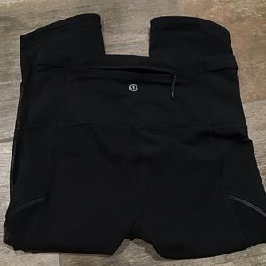 Lululemon Athletica | Black Mesh Leggings